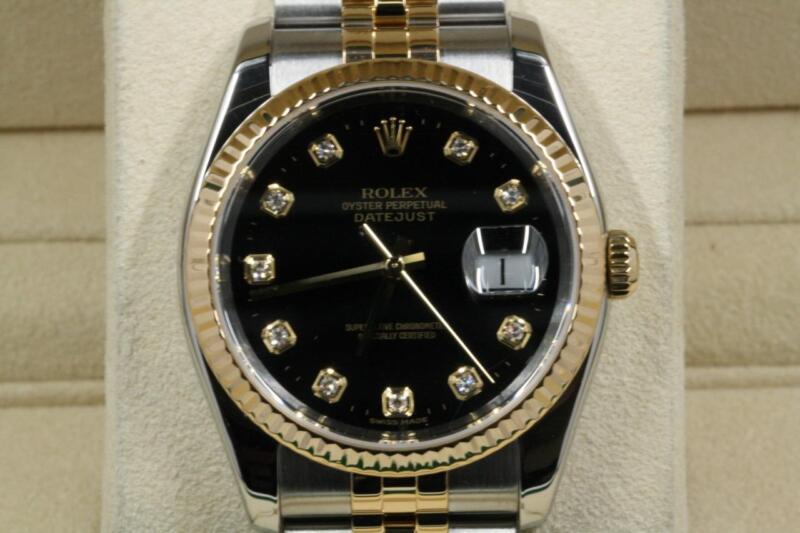 Rolex Datejust 116233 Black Diamond Dial 2005 Model