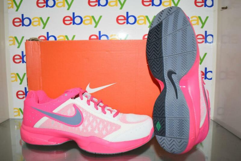 Nike Air Cage Court 549891 108 Womens Tennis Shoes Size 8.5 White/Pink/Gray NIB