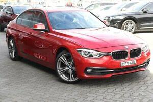 2015 BMW 3 Series F30 LCI 330i Sport Line Red 8 Speed Sports Automatic Sedan