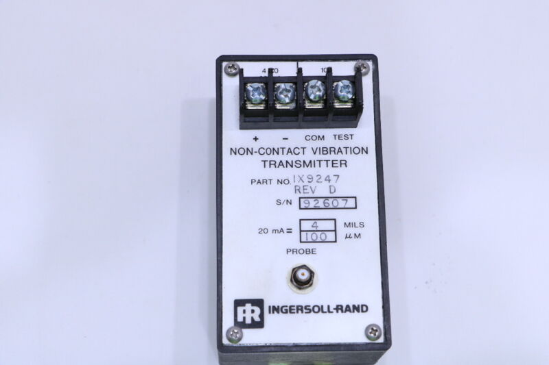INGERSOL-RAND 1X9247 NON CONTACT VIBRATION TRANSMITTER