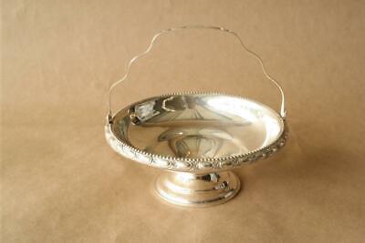 Vintage Round Overlay Hammered Design Link Cocktail Necklace 925 Sterling Silver NC 1690