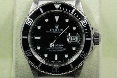 Rolex Submariner-Date 16610 Black Index Dial With Papers 1998 Model