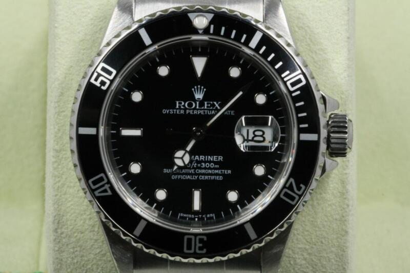 Rolex Submariner-date 16610 Black Index Dial 1998 Model