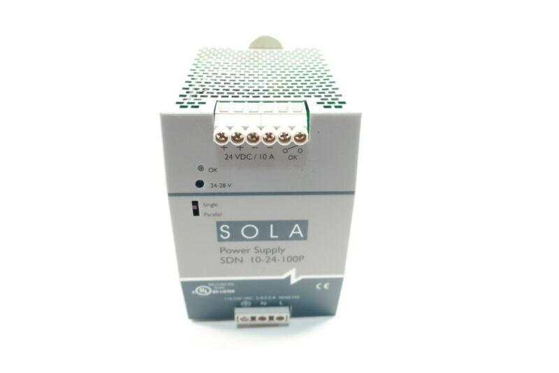 Sola SDN 10-24-100P Power Supply 115/230v-ac 10a 24v-dc