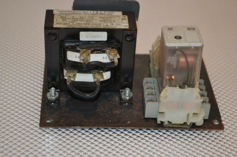 ONE USED ALLEN-BRADLEY 1497-N2 CONTROL CIRCUIT TRANSFORMER  X-343858 WITH RELAY.