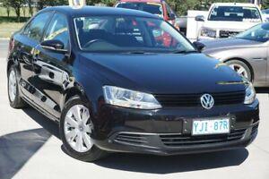 2012 Volkswagen Jetta 1B MY12.5 118TSI DSG Deep Black 7 Speed Sports Automatic Dual Clutch Sedan