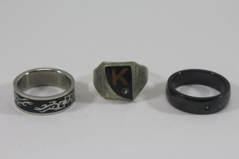Mens Costume Ring Mixed Lot ~ 3 Pieces Size 12
