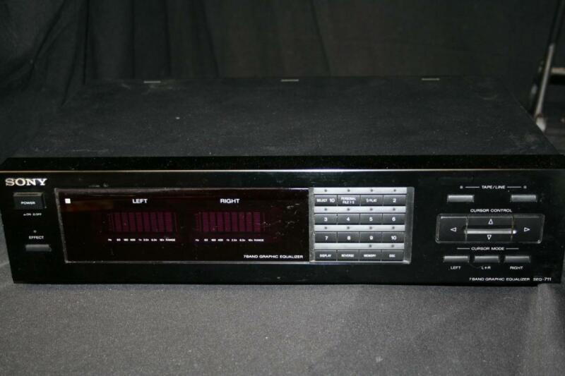 Sony 7 Band Graphic Equalizer SEQ-711 NO REMOTE Great Condition