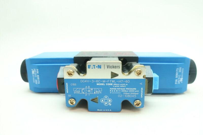 Eaton DG4V-3-6C-M-FTWL-H7-60 Directional Control Valve 3000psi 24v-dc