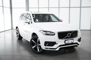 2016 Volvo XC90 L Series MY16 D5 Geartronic AWD R-Design White 8 Speed Sports Automatic Wagon