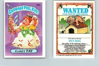 1986 SERIES 4 TOPPS GPK GARBAGE PAIL KIDS 165b FLAKEY FAY
