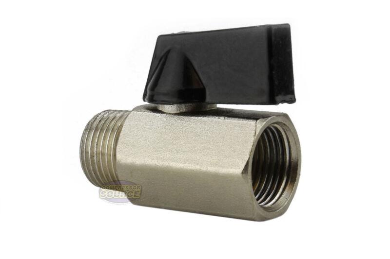 "Mini 1/4"" Male 1/4 Inch Female NPT Brass Ball Shut Off Valve Water Air Fluid WOG"