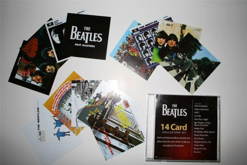 The BEATLES 14 Card Collectors Set features 14 Record Albums VERY RARE