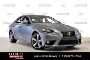 2014 Lexus IS 350 EXECUTIVE GPS, BSM, LEATHER, BACKUP CAMERA