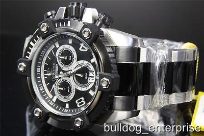 Invicta Reserve Grand Arsenal 63mm Black Silver Stainless Swiss Made Watch New