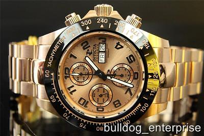 Men Invicta Reserve Speedway Valjoux 7750 Automatic Rose Gold Swiss Watch New