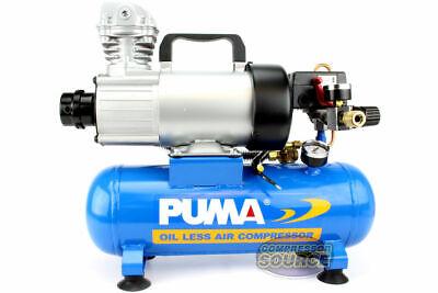 Puma 12 Volt Dc 1.5 Gallon 34 Hp Oil-less Air Compressor Portable High 3.4 Cfm