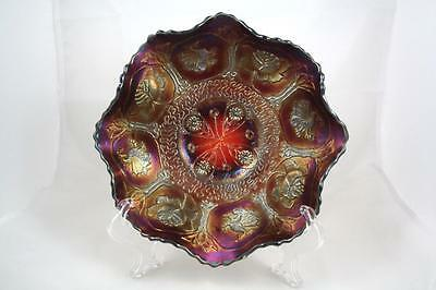 FENTON CARNIVAL GLASS  DRAGON & LOTUS RUBY RED