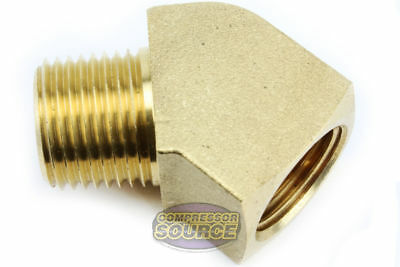 Rapid Air 45 Degree 14 Npt Pipe Thread Brass Street Elbow Fitting Usa 50130