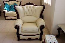 Leather Lounge Suite and Two Side Tables North Strathfield Canada Bay Area Preview