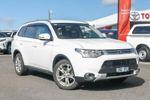 2014 Mitsubishi Outlander ZJ MY14.5 LS 4WD White 6 Speed Constant Variable Wagon Dandenong Greater Dandenong Preview