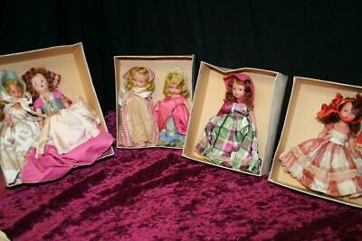 Lot of 6 Vintage American Girl Series Bisque STORYBOOK Dolls in boxes!
