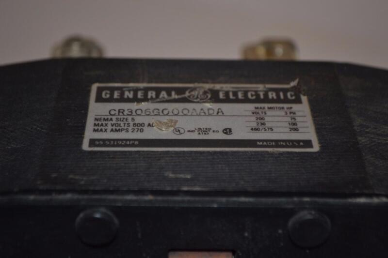 ONE USED GENERAL ELECTRIC MOTOR STARTER CR306G000AADA SIZE 5.