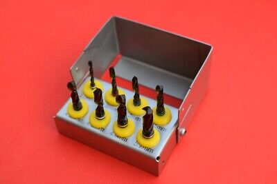 Dental Implant Drill Kit 8pcs Set External Irrigation Surgical Bur Casing
