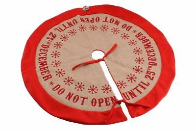 Do Not Open Until 25th December' Christmas Tree Skirt Base Cover Xmas Decoration - Halloween Opening Hd