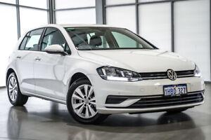 2020 Volkswagen Golf 7.5 MY20 110TSI DSG Trendline Pure White 7 Speed Sports Automatic Dual Clutch