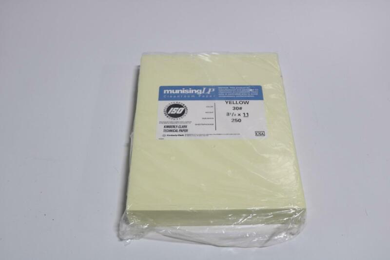 "Munising LP Yellow 30# 8.5"" x 11"" Clean Room Paper 250 Sheets"