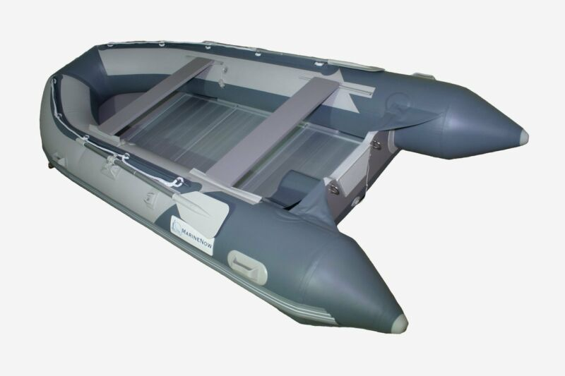 14.1 ft Roll Up Inflatable Boat Aluminum Floor Dinghy Yacht Tender Fishing Raft