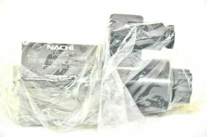 MAZAK NACHI SA-G01-H3X-D2-31 DIRECTIONAL CONTROL SOLENOID VALVE. 24VDC
