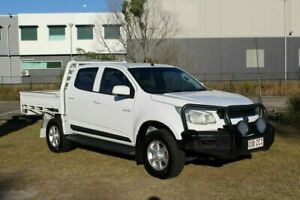 2012 Holden Colorado RG MY13 LX Crew Cab White 6 Speed Sports Automatic Cab Chassis Ormeau Gold Coast North Preview