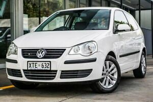 2007 Volkswagen Polo 9N MY2007 Club White 5 Speed Manual Hatchback Somerton Park Holdfast Bay Preview