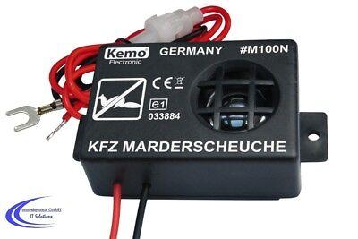 Auto Ultraschall Marderscheuche Marderschreck KFZ Marderschu Kemo M100N KFZ 12V