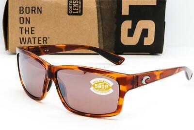 c056bc85918e COSTA DEL MAR CUT SUNGLASSES Honey Tortoise / Silver Mirror 580P Polarized  lens