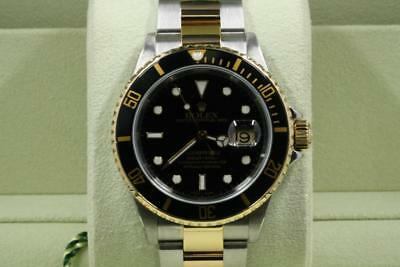 Rolex Steel 18K Gold Submariner 16613 Gold Clasp 2004 Model