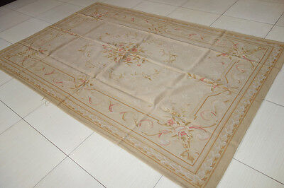 Aubusson Area - Chic Shabby Pastel Light Tone French Country Aubusson Area Rug #11-78-102