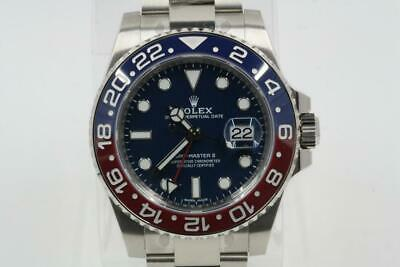 Rolex GMT-Master II 116719 Pepsi Bezel Blue Dial White Gold 2019 Model -UNWORN-