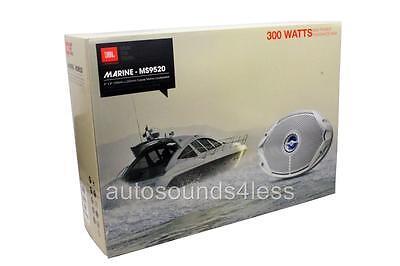 """New JBL MS9520 300 Watts 6"""" x 9"""" 2-Way Coaxial Marine Audio Speakers 6""""x9"""""""