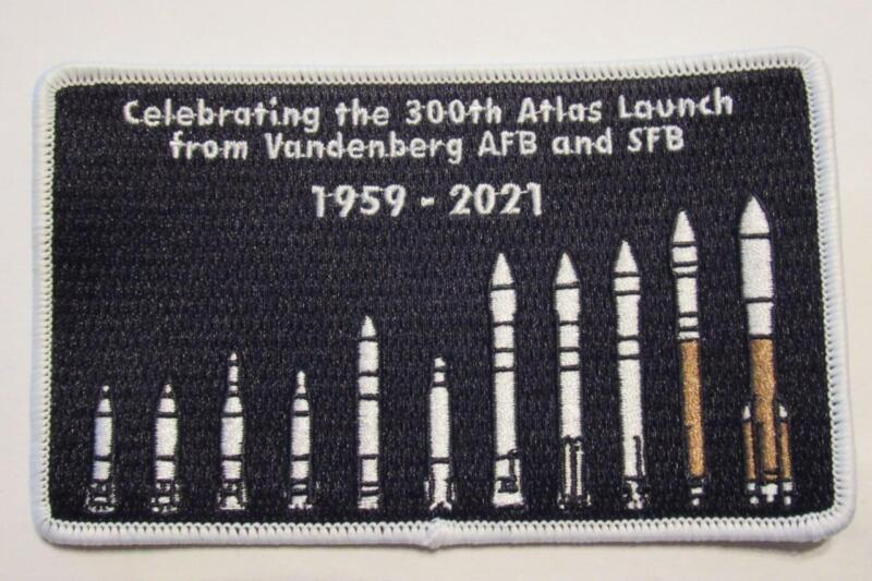 THE COMMEMORATIVE 300TH ATLAS LAUNCH PATCH FROM VANDENBERG AFB & SFB 1959 -2021