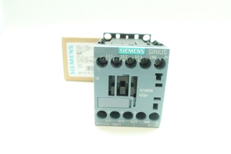 Siemens 3RT2016-1BB41 Sirius Ac Contactor 24v-dc 20a 5hp