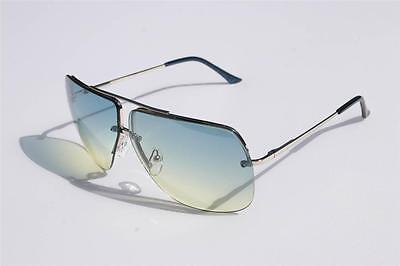 New Celebrity Aviator Sunglasses Green Gradient lens Oceanic metal rimless (Rimless Aviator Sunglasses)