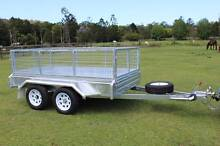 Box Trailer 9x5 Tandem Axle Galvanised Free Spare and Cage Parkwood Gold Coast City Preview