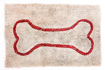 """Soggy Doggy 26"""" x 36"""" Microfiber Chenille Doormat for Wet Dog Paws, Beige, Large"""