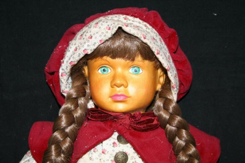 """THE HAMILTION COLLECTIONS WOODEN 17"""" DOLL """"GRETCHEN"""" w/COA Beautiful!"""