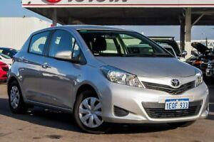 2014 Toyota Yaris NCP130R YR Silver Pearl 4 Speed Automatic Hatchback