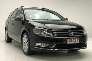 2012 Volkswagen Passat Type 3C MY12.5 118TSI DSG Black 7 Speed Sports Automatic Dual Clutch Wagon