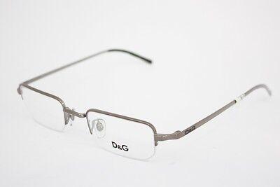 DOLCE & GABBANA DG 5057 eyeglasses 04 Gunmetal 45mm MEN Vintage Half Rimless